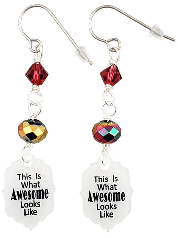 This Is What Awesome Looks Like, Earrings