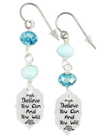 Believe You Can and You Will, Earrings