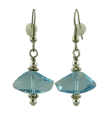Light Blue Irregularly shaped Earrings