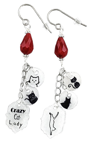 Crazy Cat Lady, Earrings