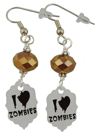I Heart Zombies Earrings