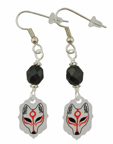 KITSUNE (Fox) Mask Earrings