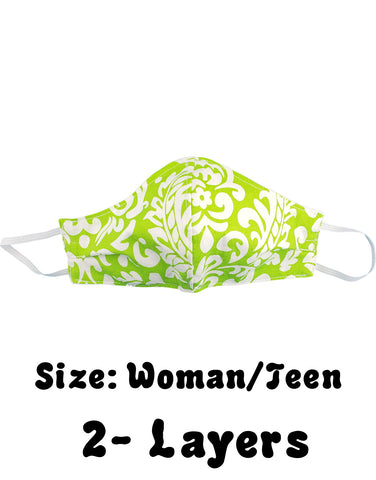 Green Tropical Print , Size: Woman/Teen