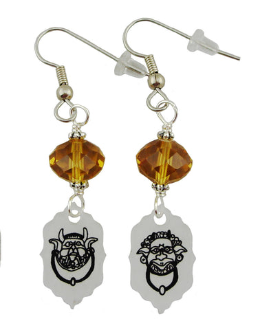 Labyrinth Inspired Doorknocker Earrings