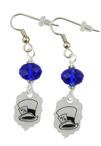 Alice in Wonderland Inspired Mad Hatter Hat Earrings