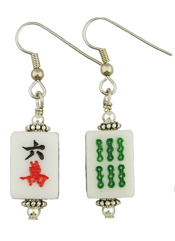 Mahjong Earrings