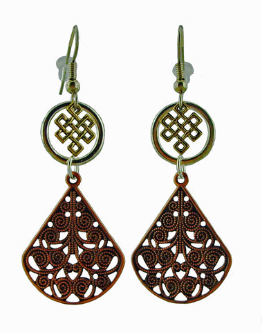 Metal Lace Earrings