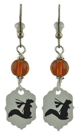 Ninja Squirrel Earrings