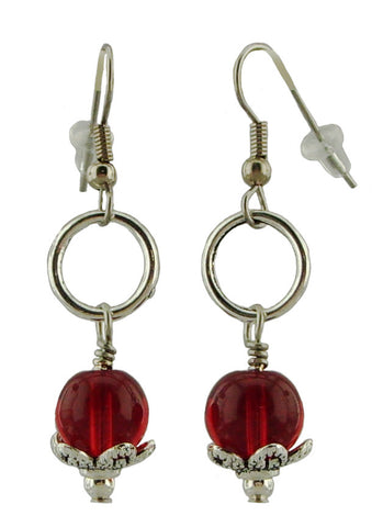 Pretty Red Earrings