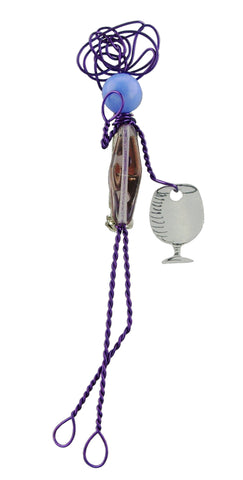 Puple Wine Glass Pepole Pin