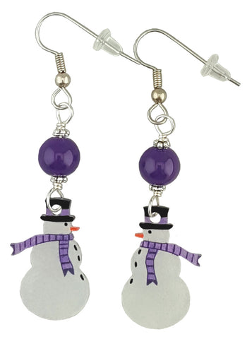 Puprle Snowman, Earrings