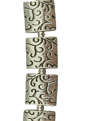 It's Hip To Be Square Pewter Bracelet