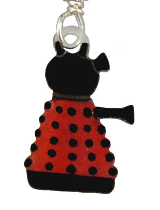 Red Dalek Earrings
