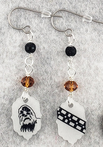 Space Bigfoot Earrings