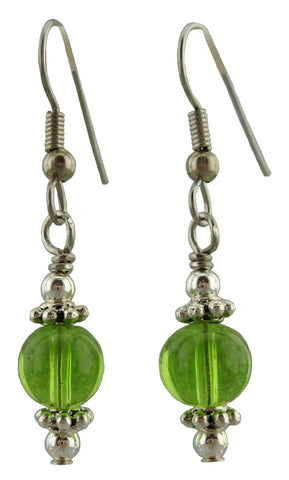 Spring Green Drop Earrings