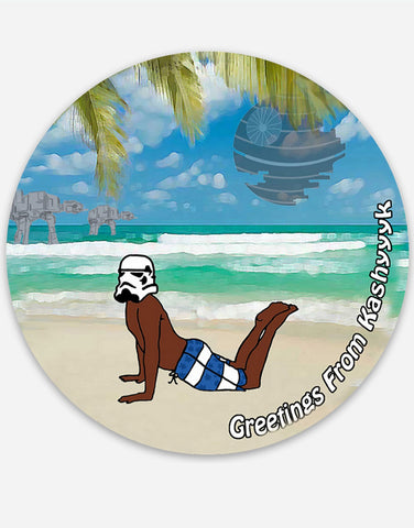 "Beach Trooper 3"" Round Vinyl Sticker"