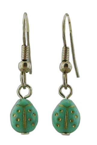 Turquoise Ladybug Earrings