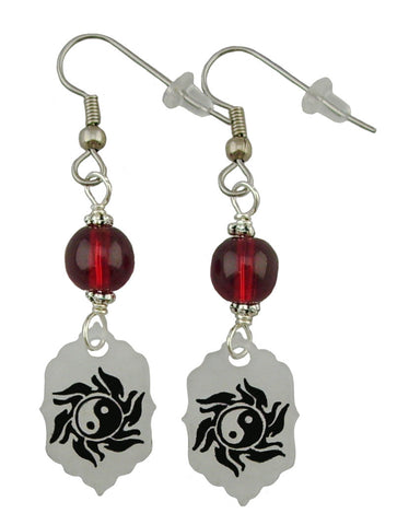 Ying Yang Sun Earrings