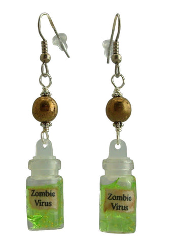 Zombie Virus Earrings
