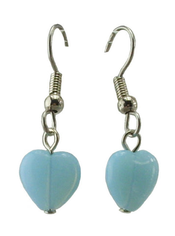 Blue Heart Earrings, Small