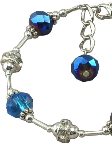 Blue Simply Elegant, Adjustable Bracelet
