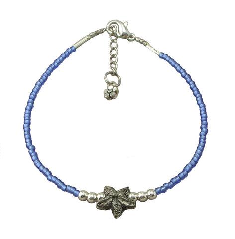 Blue Starfish Anklet