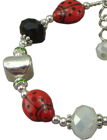 Fancy Ladybug, Adjustable Bracelet