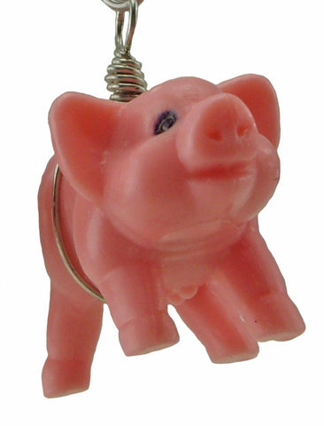 Large Pig Earrings