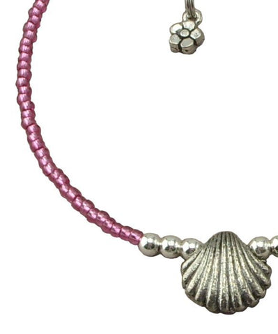 Pink Sea-Shell Anklets