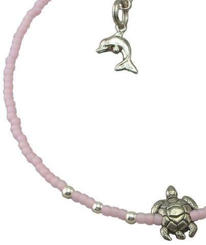 Light Pink Turtle Anklet