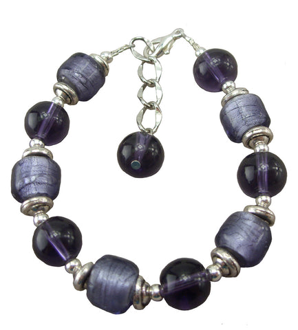 Purple Bauble Bracelet
