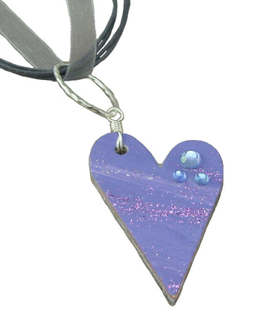 Purple Recycled Mail Pendant
