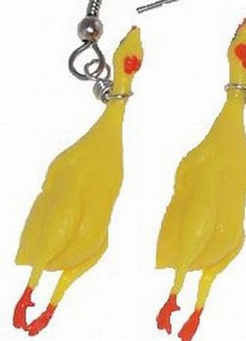 Rubber Chicken, Earrings