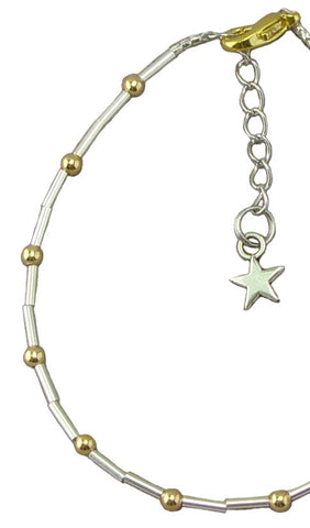 Silver and Gold Anklet