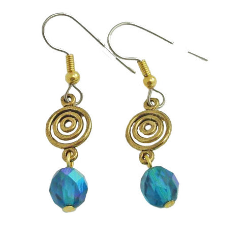 Teal Swirl, Earrings