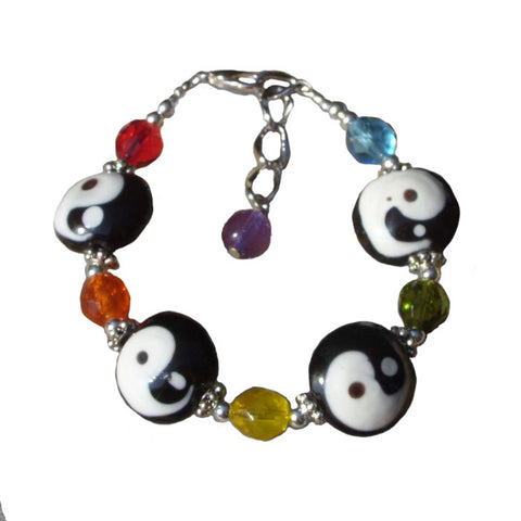 Yin Yang, Adjustable Bracelet