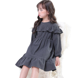 347bb57f6 chinese style simple dresses age for 3 - 10 yrs baby girls long sleeve dress  2019