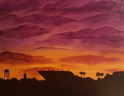 Sunset on Death Valley