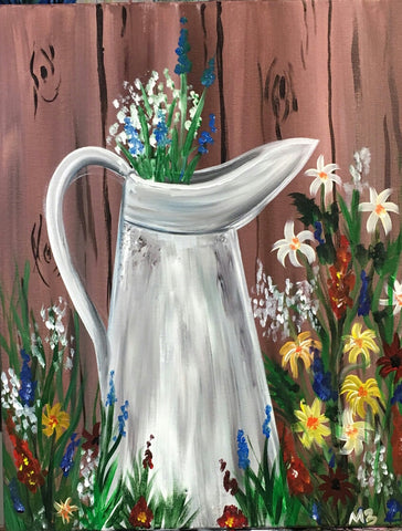 Milk Can Flowers