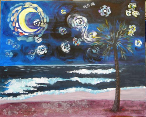 Starry Palmetto Night