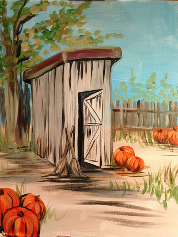 Fall Outhouse