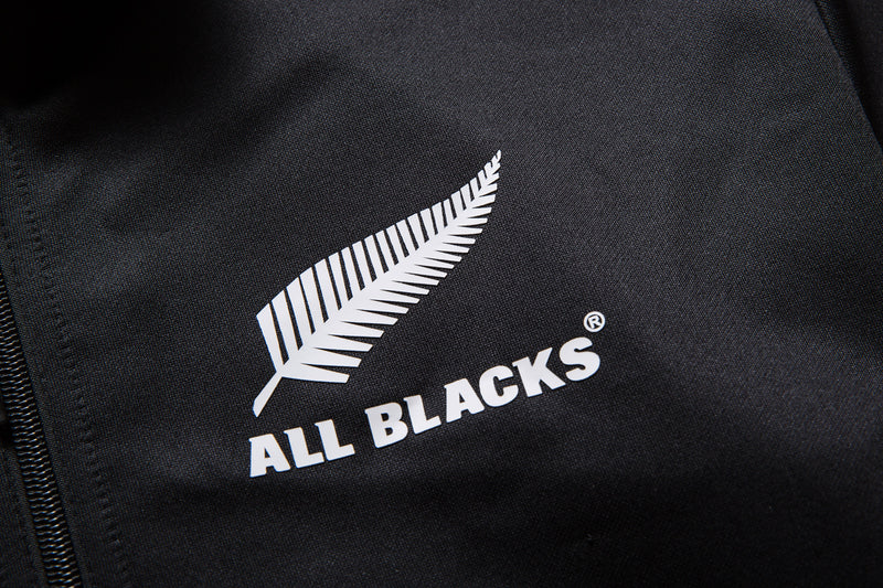 adidas New Zealand All Blacks 2019/20 Full Zip Hooded Rugby Sweat