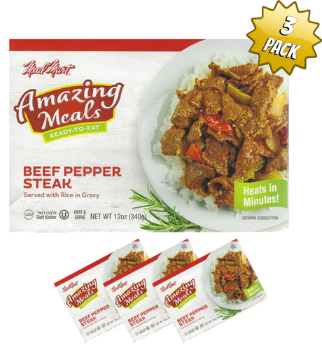Meal Mart Amazing Meals Beef Pepper Steak - Pack of 3