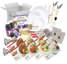 Load image into Gallery viewer, Couples Kosher Shabbos Meals Package – Ready to Eat – Travel or at Home – Kosher Food, For TWO – Everything Shabbat in a Box