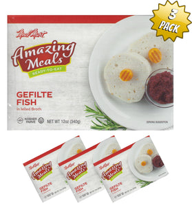 Meal Mart Amazing Meals Gefilte Fish in Jelled Broth - Parve - Pack of 3