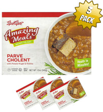 Load image into Gallery viewer, Meal Mart Amazing Meals Parve Cholent with Potato Kugel and Kishke - Pack of 3