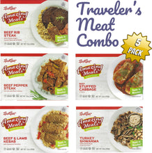 Load image into Gallery viewer, Kosher Amazing Meals 5 pack Travelers Combos (Meat Combo)