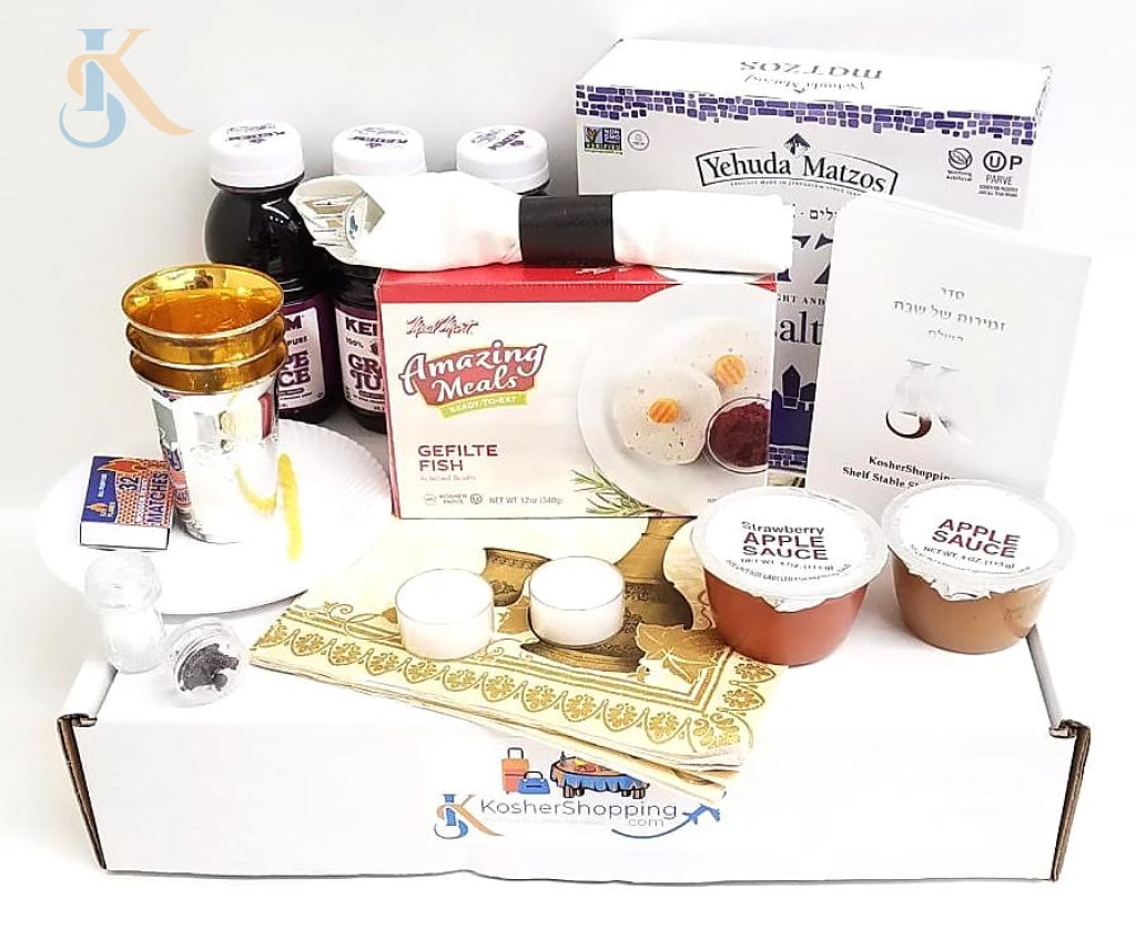 Kosher Shabbos Emergency Package Ready To Use Travel Friendly Food Shabbat Basics In A Box