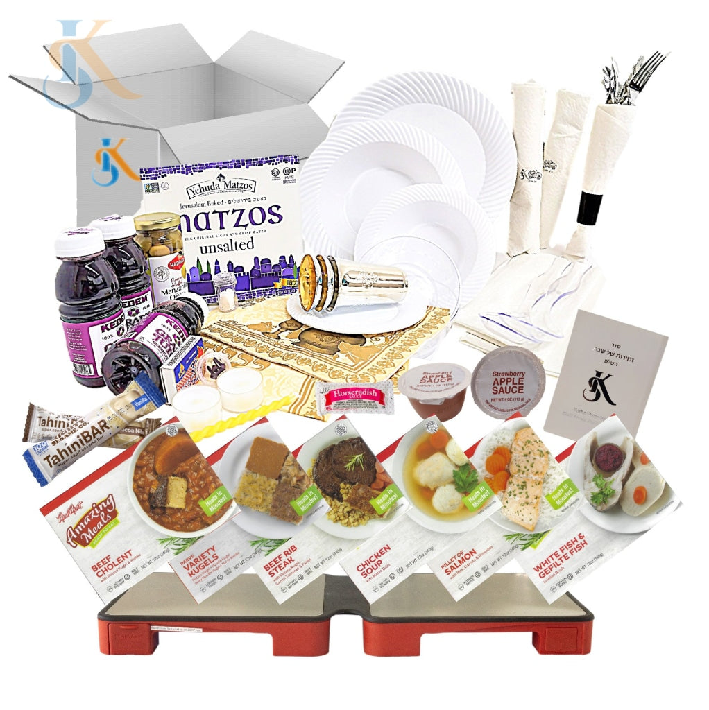 Kosher Shabbos Meals Package With Hotmat Foldable Warmer Ready To Eat Travel Or At Home Food