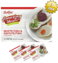 Load image into Gallery viewer, Meal Mart Amazing Meals White Fish & Gefilte Fish in Jelled Broth - Parve - Pack of 3
